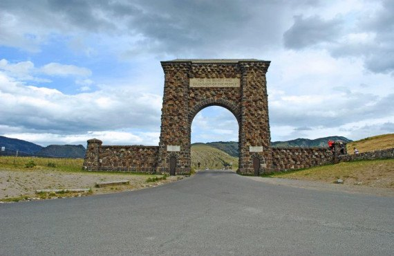 Roosevelt Arch à l'entrée