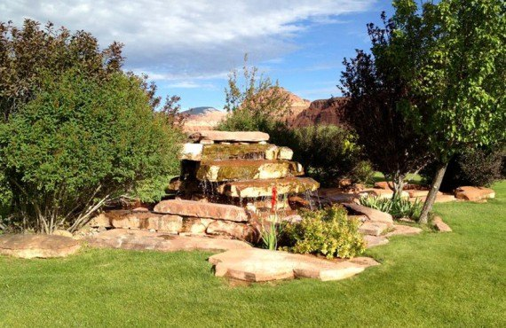 Capitol Reef Resort - Jardin, fontaine