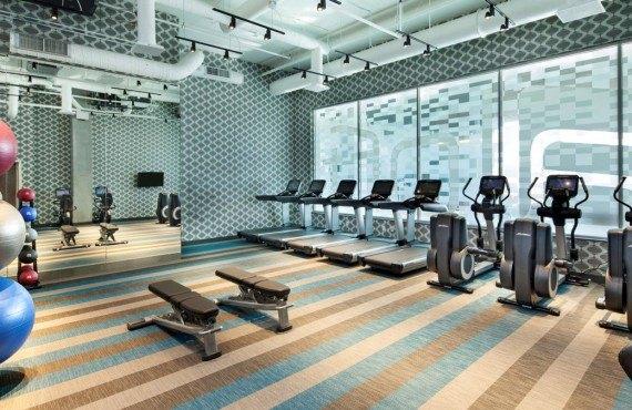 Hôtel Aloft Boston - Salle de Gym