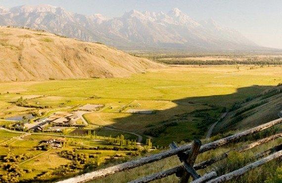 Vue aérienne de Spring Creek Ranch