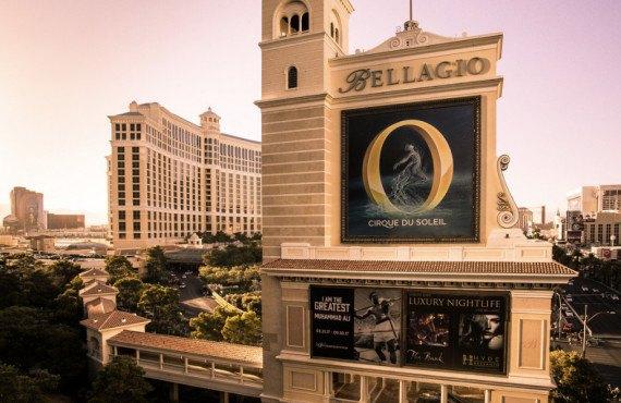 Spectacle du Cirque du Soleil à l'hôtel Bellagio