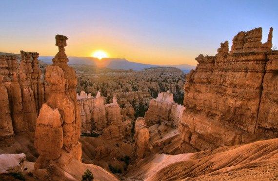 Lever de Soleil au parc national de Bryce Canyon