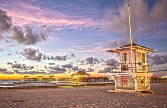 Coucher de soleil à Cleawater Beach