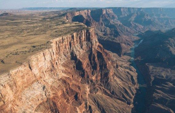 Vue aérienne du Grand Canyon