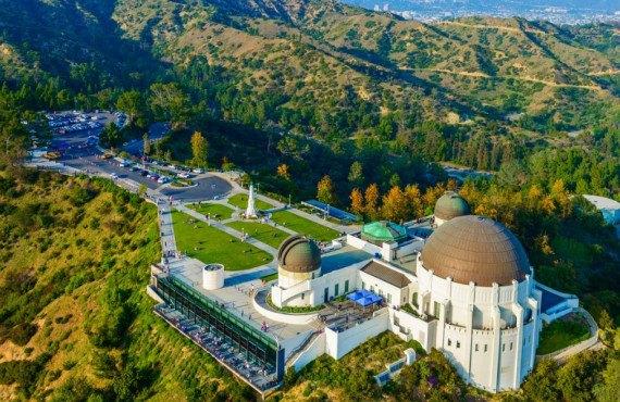 Vue aérienne de l'bservatoire Griffith Park