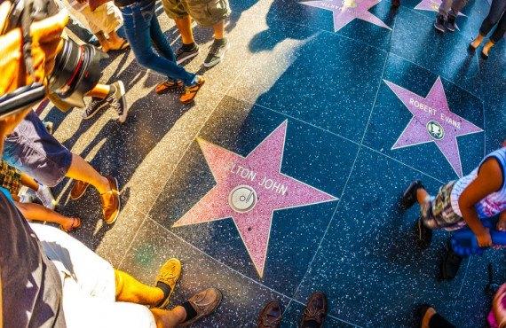 Balade sur le Walk of Fame en famille