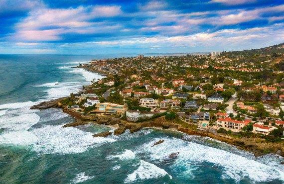 Vue aérienne de La Jolla à San Diego