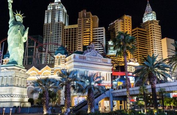 Vue sur plusieurs hôtels de Las Vegas