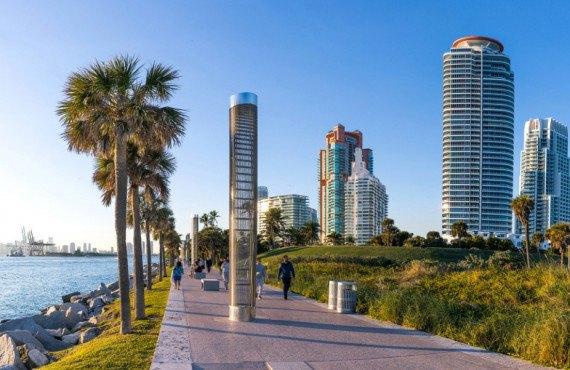 Parc de South Pointe à Miami