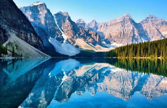 Lac Moraine dans le parc national de Banff