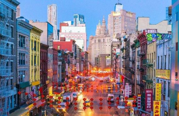 Chinatown NYC at night