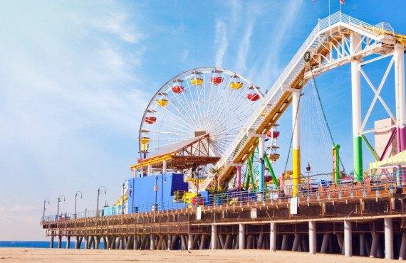 Parc d'attractions Pacific Park à Santa Monica