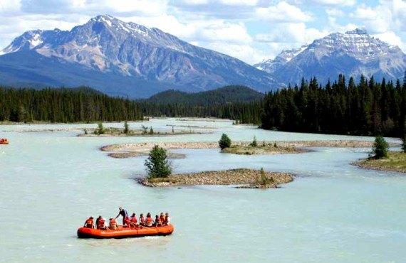 Rafting sur l'Athabasca - Jasper