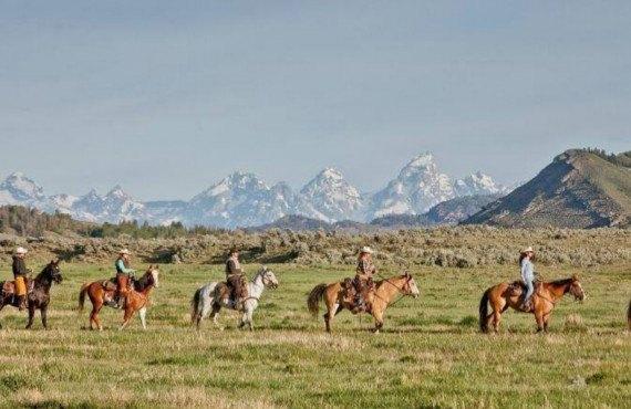 Ranch dans le parc national de Grand Teton