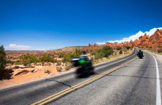 route parc des arches en moto
