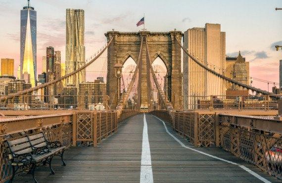 Vue sur e pont de Brooklyn