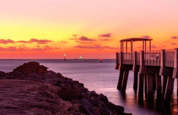 Coucher de soleil à Miami