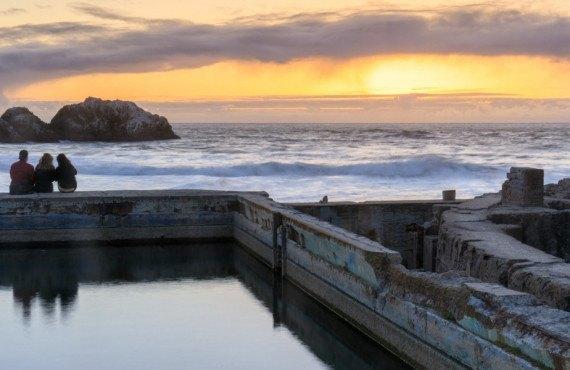 Coucher de soleil à Sutro Baths