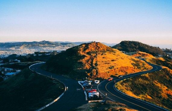 Stationnement de Twin Peaks à San Francisco