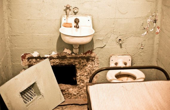 Cellule d'un évadé de la prison d'Alcatraz