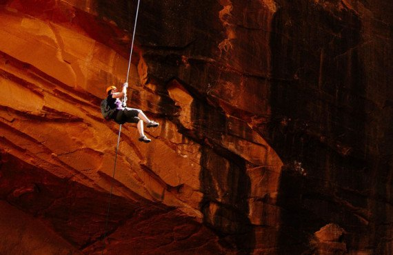 Activité de canyoning au Zion Mountain Ranch