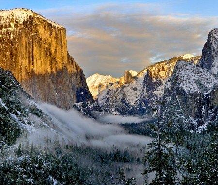 Le parc Yosemite en hiver