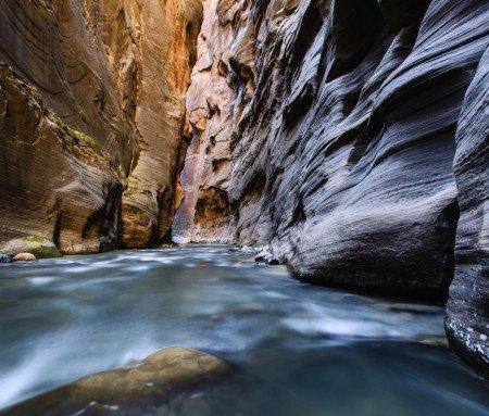 Rando dans les Narrows du Zion Canyon