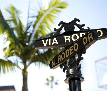 La célèbre Rodeo drive de Beverly Hills