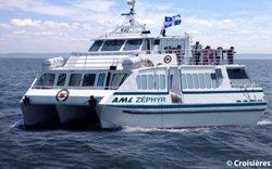 afari aux baleines en catamaran - Tadoussac, QC