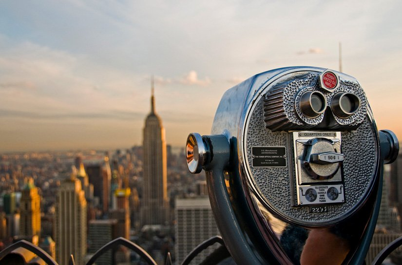 Top of the Rock - Vue sur l'Empire State Building