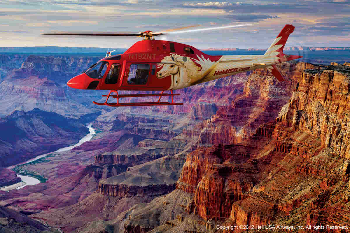 Survol En Hlicoptre Grand Canyon Arizona TatsUnis
