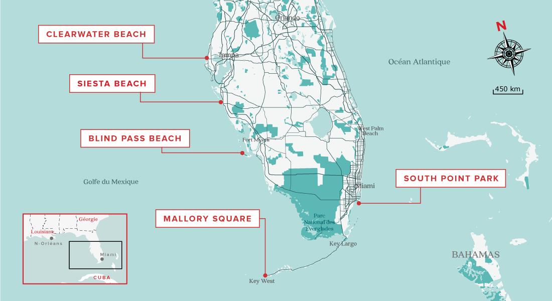 Top 5 des plus beaux couchers de soleil en Floride