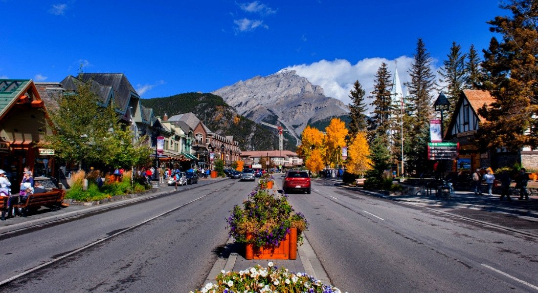 Village de Banff en Alberta