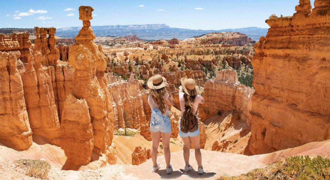 Touristes à Bryce Canyon