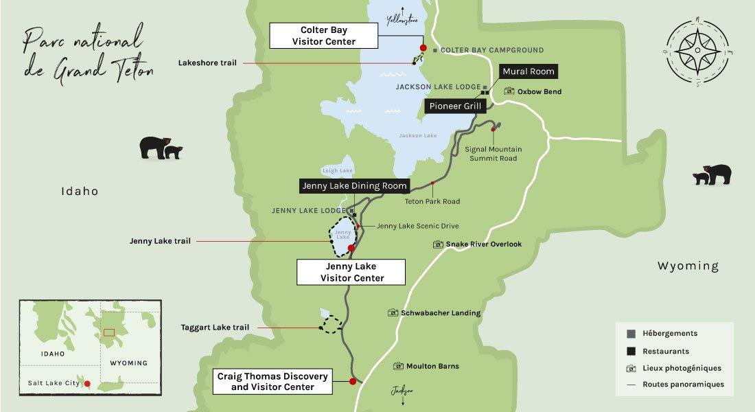 Carte de Grand Teton