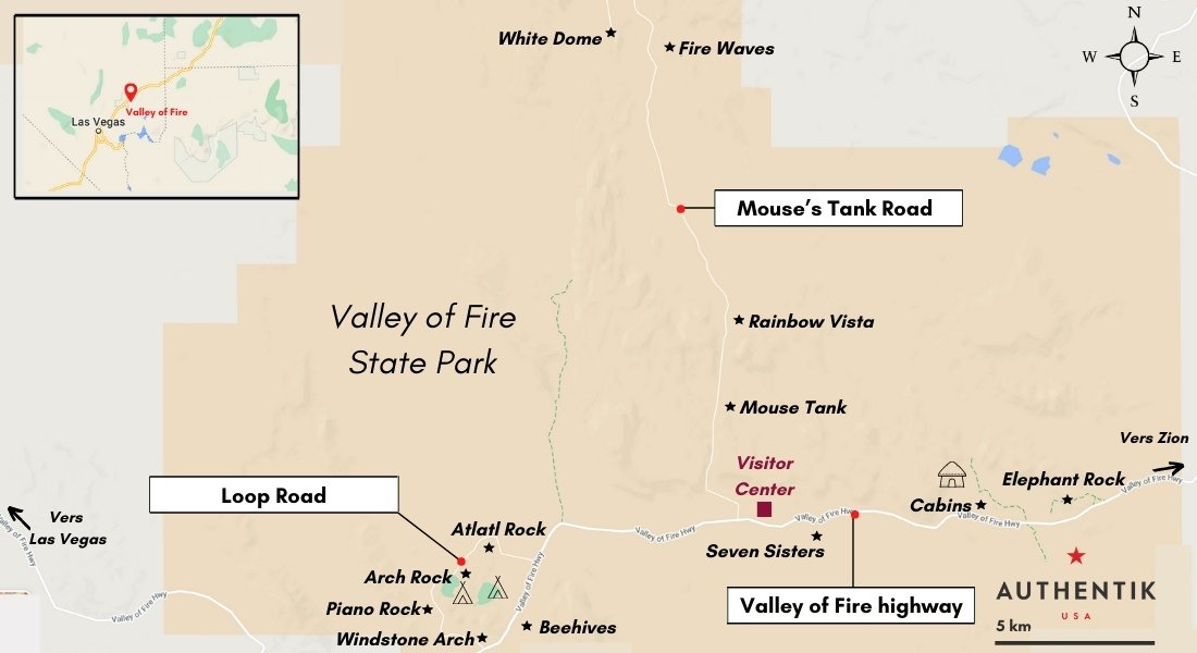 carte valley of fire
