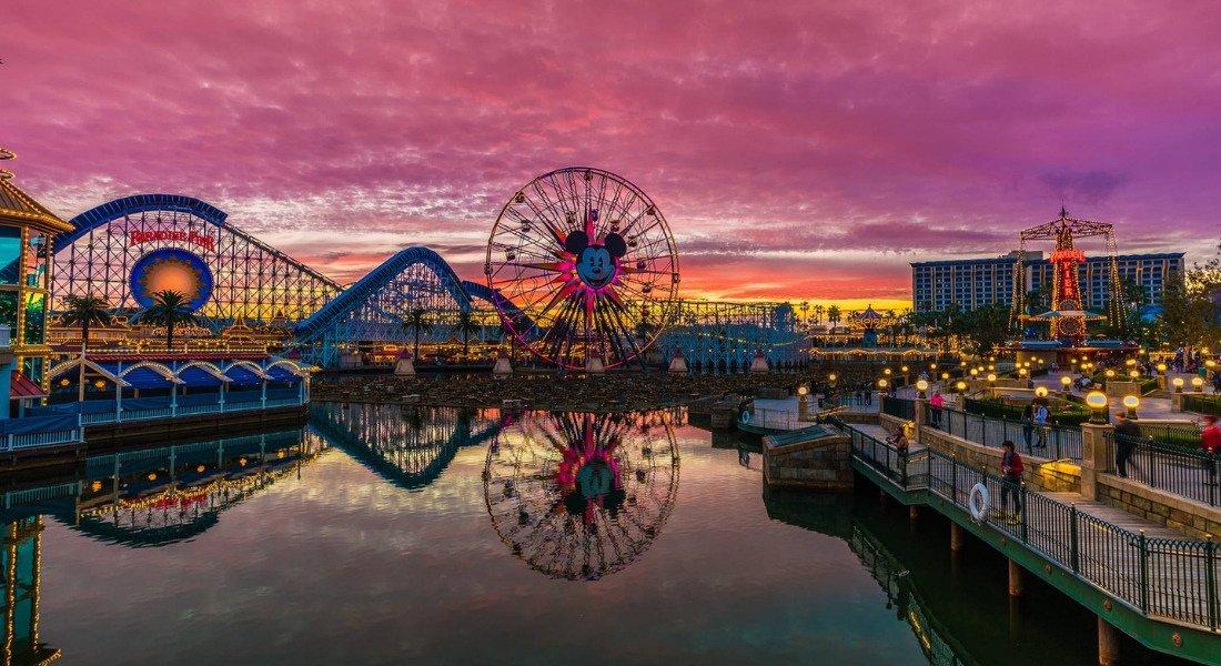 Coucher de soleil à Disneyland Anaheim