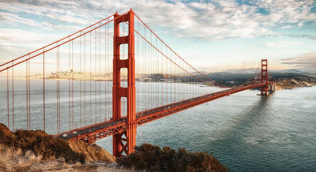 Vue sur Golden Gate Bridge de San Francisco