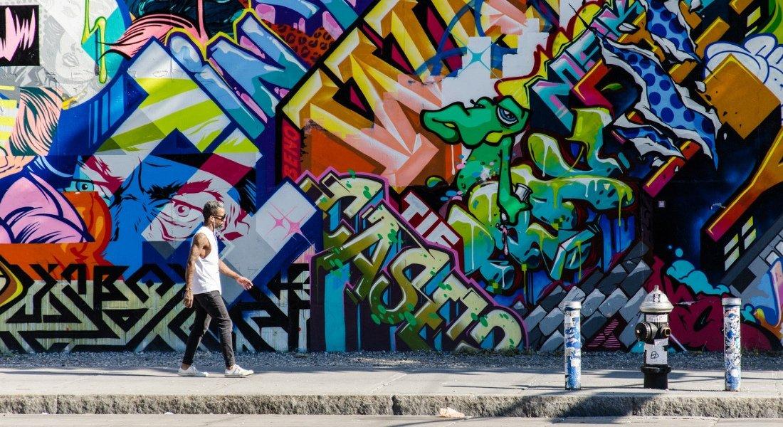Graffiti dans les rues de Bushwick