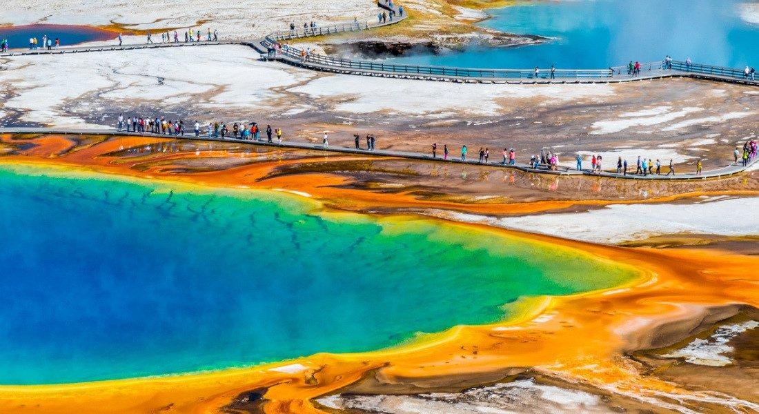 Grand Prismatic Spring dans le parc de Yellowstone
