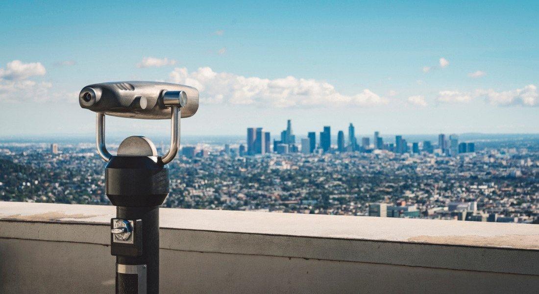 Vue sur la ville de Los Angeles à partir de l'observatoire Griffith Park