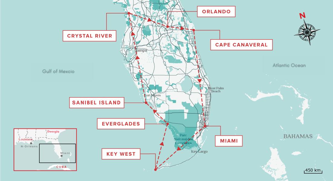 Best florida road trip map