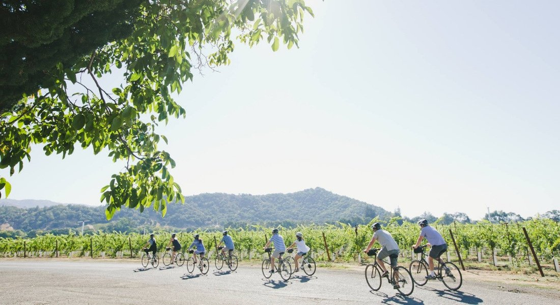 Tour guidé de Napa Valley en vélo