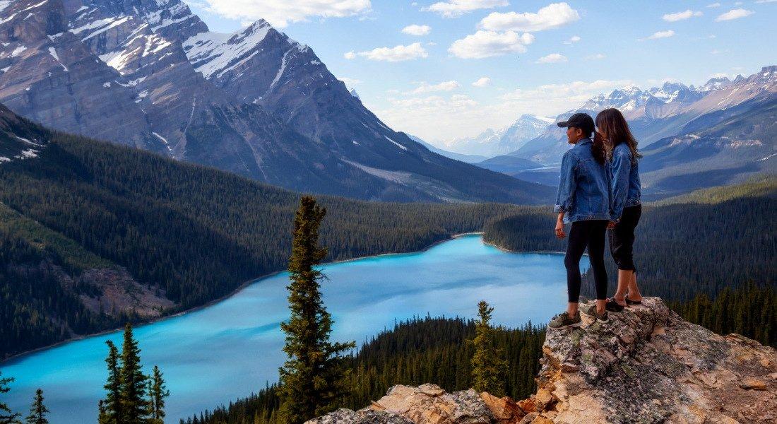 Lac Peyto dans le parc national de Banff