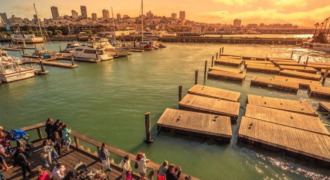 Coucher de soleil au Pier 39