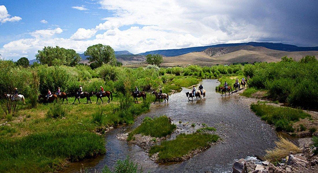Guest ranch dans l'Ouest américain