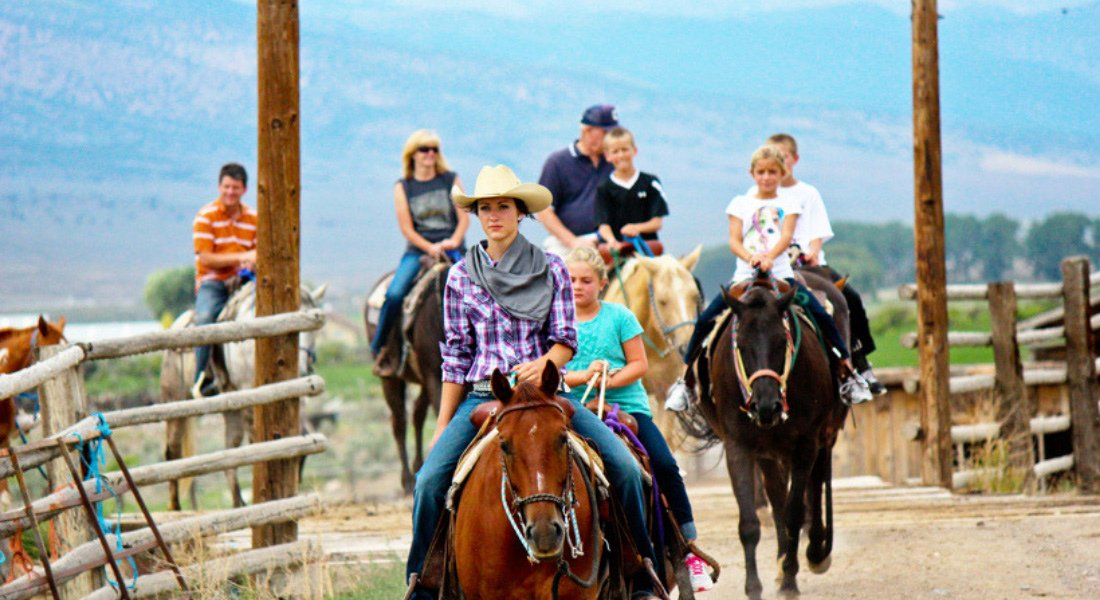 Ranch typique dans l'Ouest des États-Unis