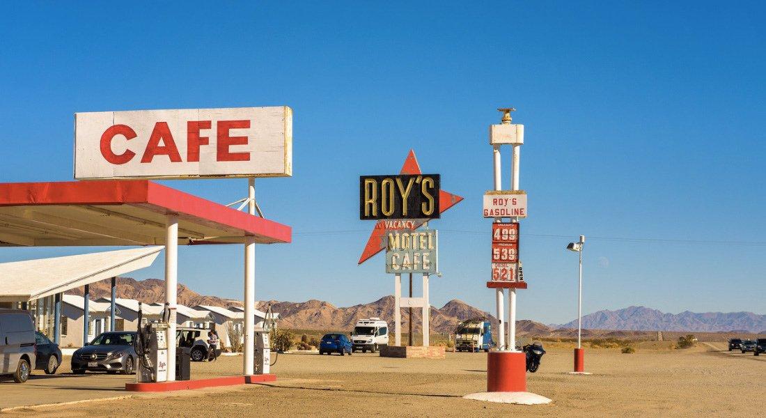 Roy's Motel and Cafe sur la Route 66