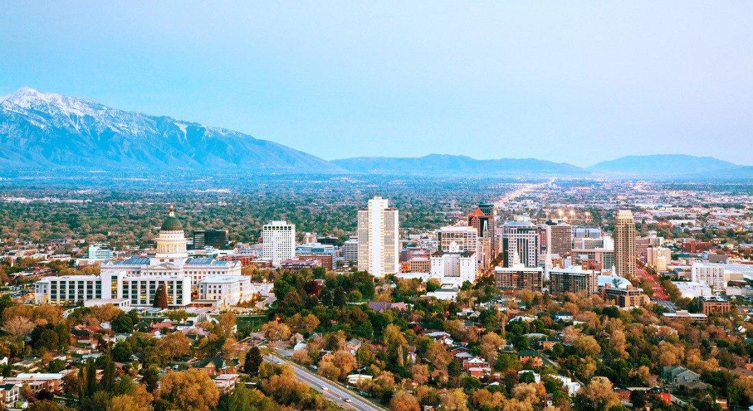 Vue aérienne sur Salt Lake City