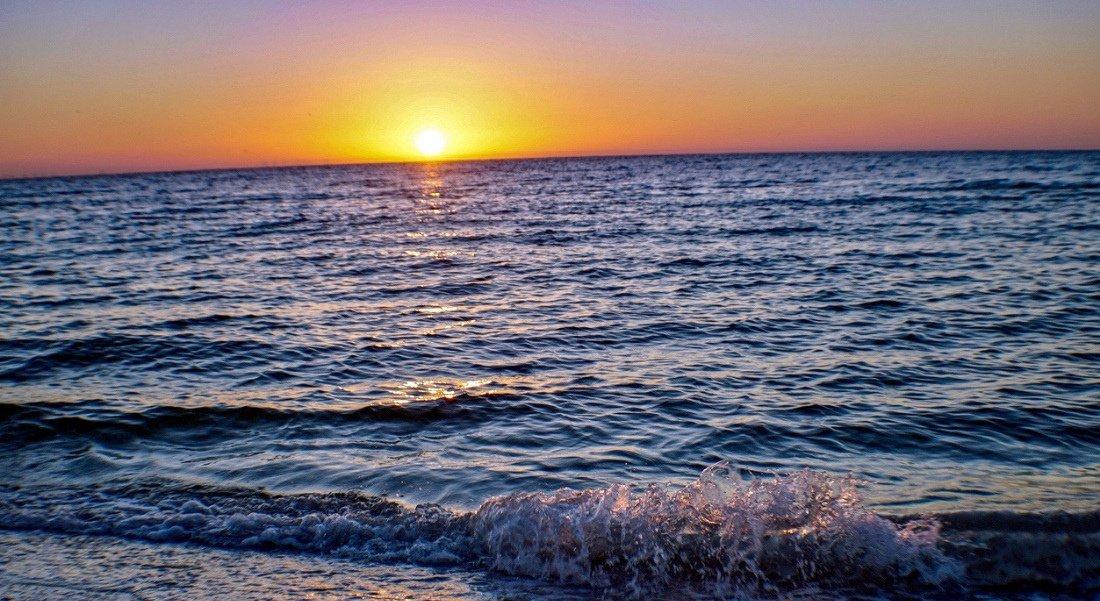 Coucher de soleil à Sanibel Island en Floride